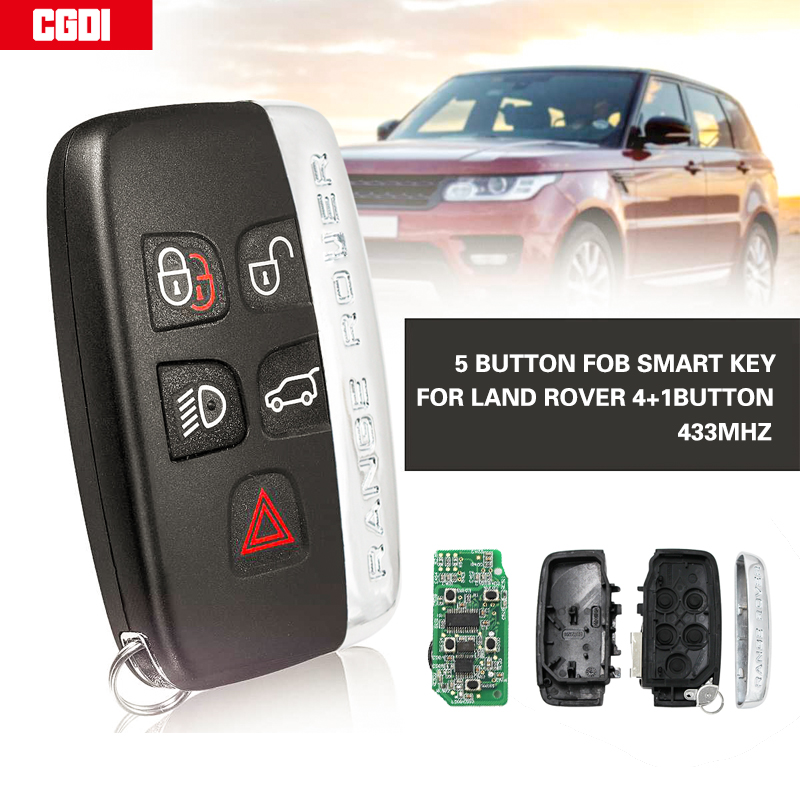 CGDI Remote control auto smart card car key for Land Rover 4+1button  With small key 433MHz/315MHz