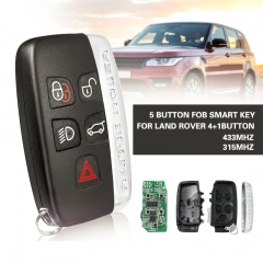 Remote control auto smart card car key for Land Rover 4+1button  With small key 433MHz/315MHz